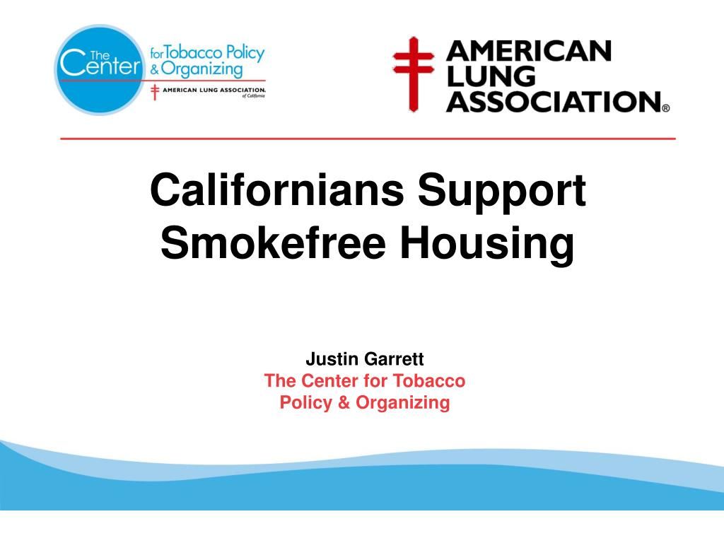 californians support smokefree housing l.