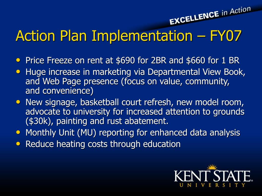 Action Plan Implementation – FY07