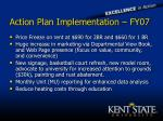 action plan implementation fy07