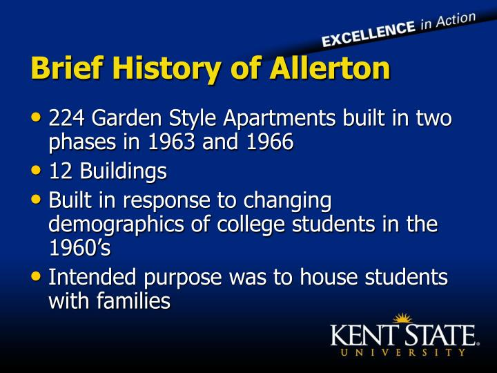 Brief history of allerton