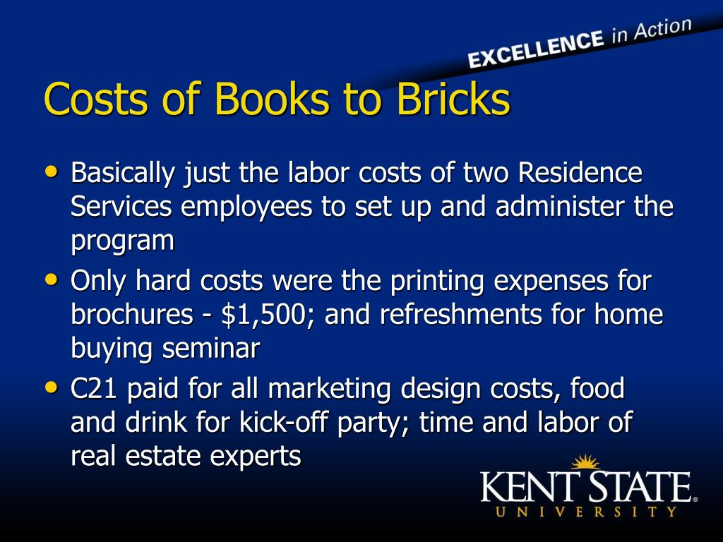 Costs of Books to Bricks