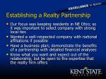 establishing a realty partnership