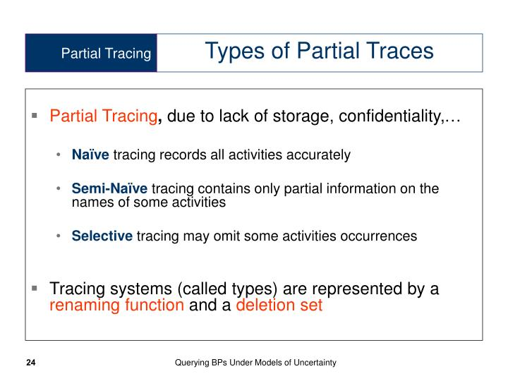 Partial Tracing