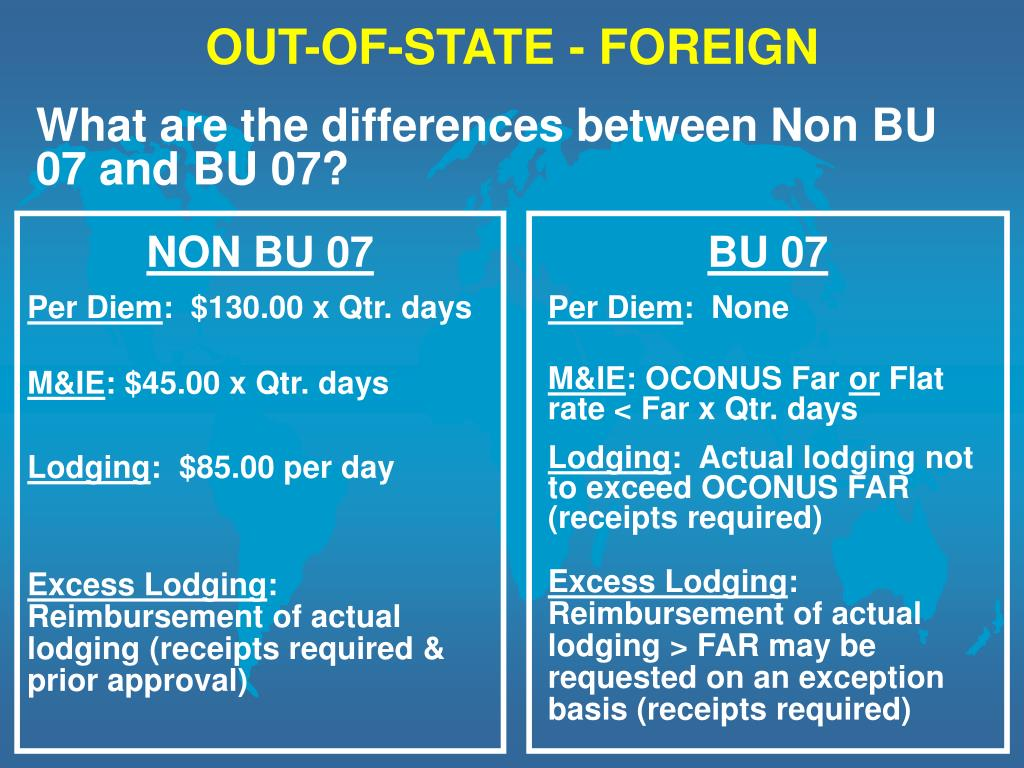 OUT-OF-STATE - FOREIGN