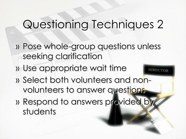 questiong techniques