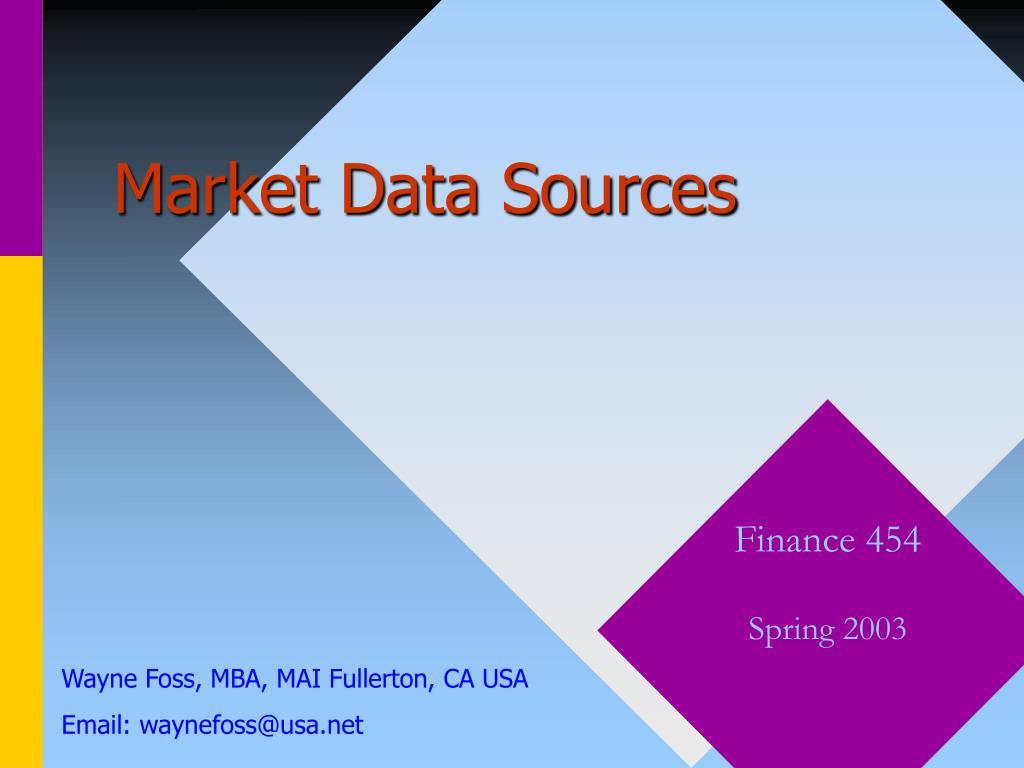 market data sources l.