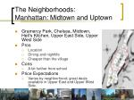 the neighborhoods manhattan midtown and uptown
