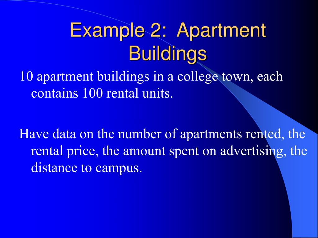 example 2 apartment buildings l.