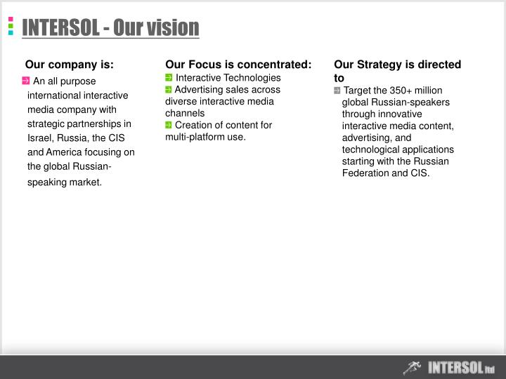 Intersol our vision