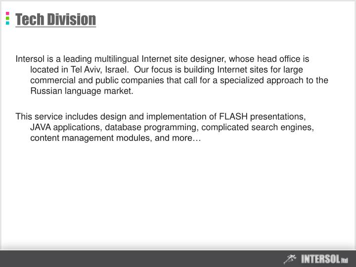 Tech Division