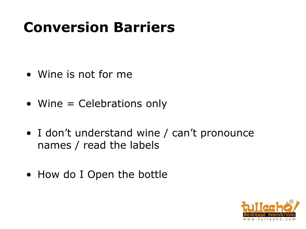 Conversion Barriers