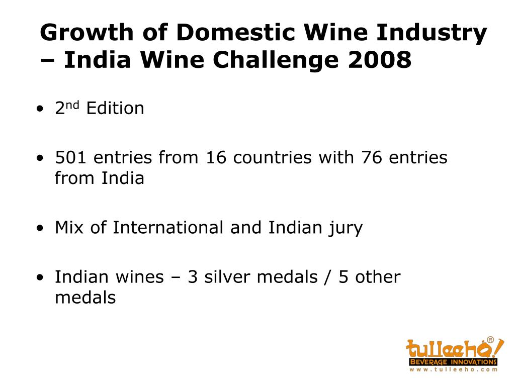 Growth of Domestic Wine Industry – India Wine Challenge 2008