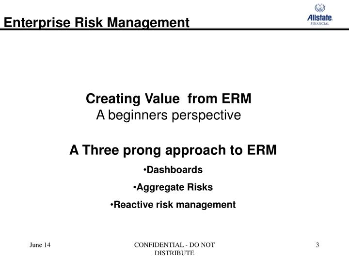 Creating value from erm a beginners perspective