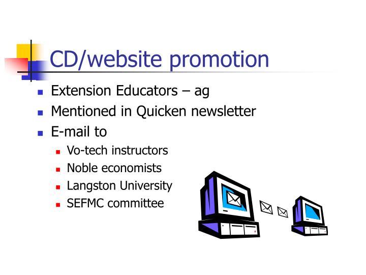 CD/website promotion