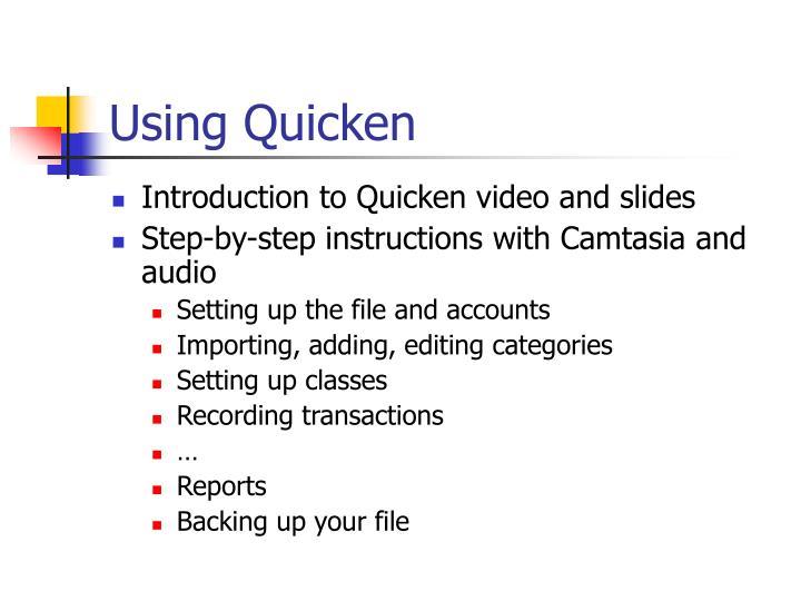 Using Quicken