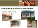 downtown business vacancies