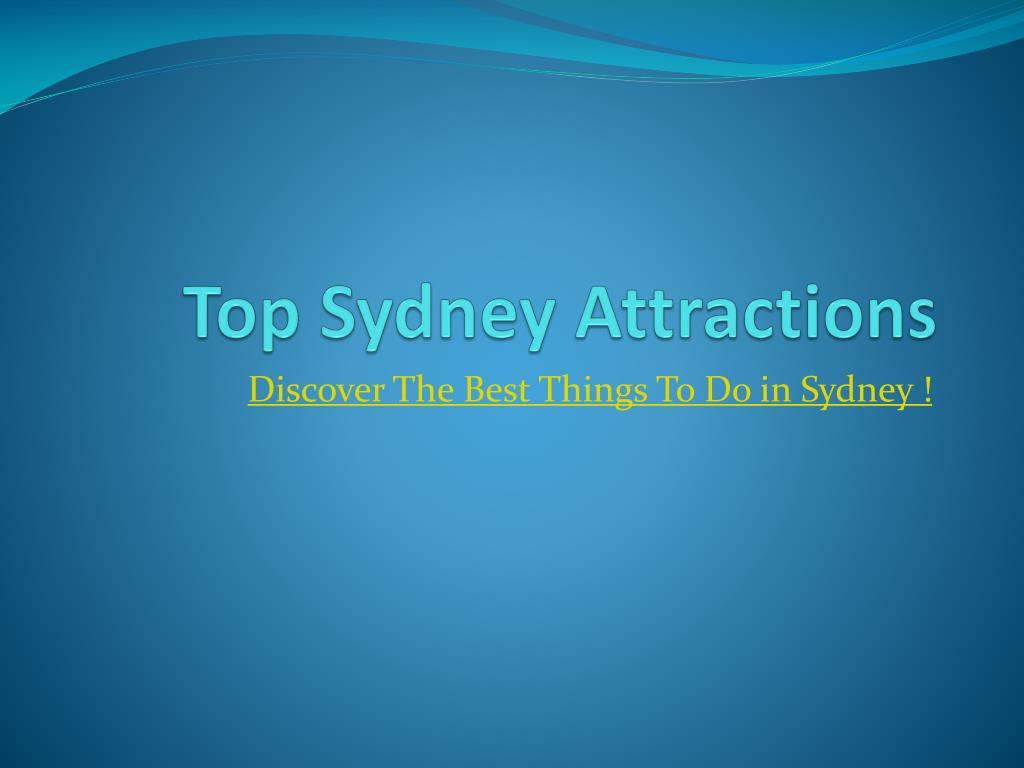 top sydney attractions l.