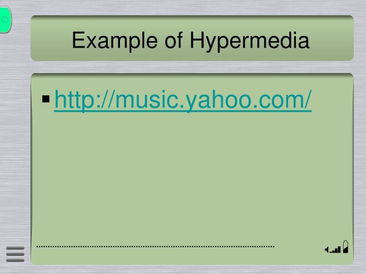 Example of Hypermedia
