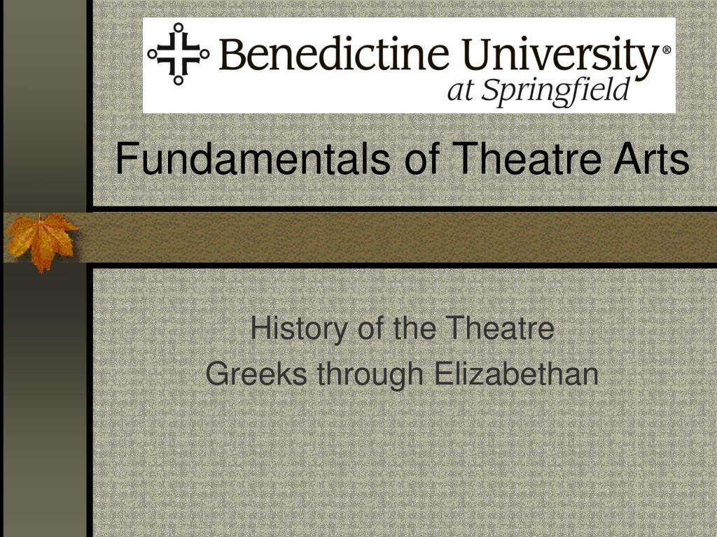 fundamentals of theatre arts l.