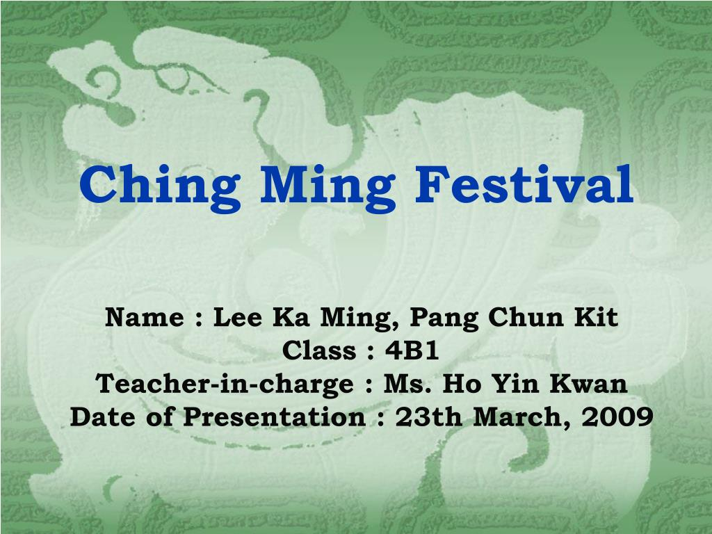 ching ming festival l.