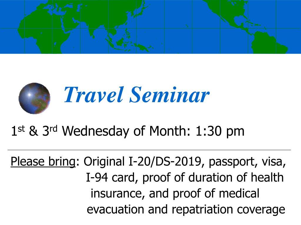 travel seminar l.
