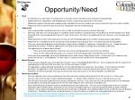 opportunity need