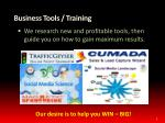 business tools training