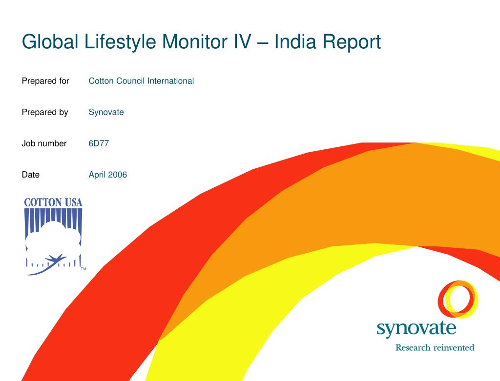 global lifestyle monitor iv india report l.