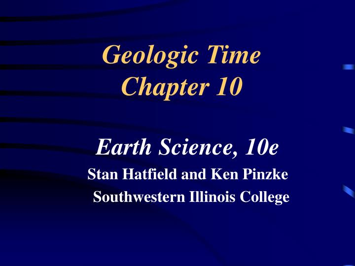 Geologic time chapter 10