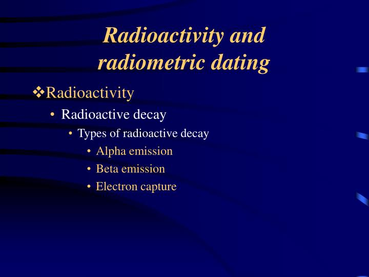 Radioactivity and