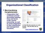 organizational classification26