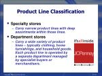 product line classification13