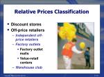 relative prices classification18