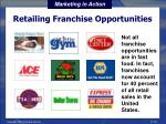 retailing franchise opportunities