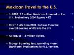 mexican travel to the u s