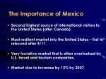 the importance of mexico