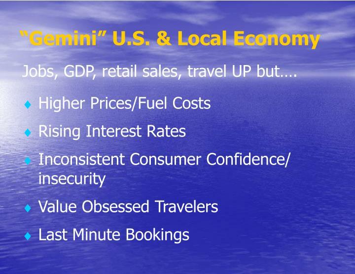 """""""Gemini"""" U.S. & Local Economy"""