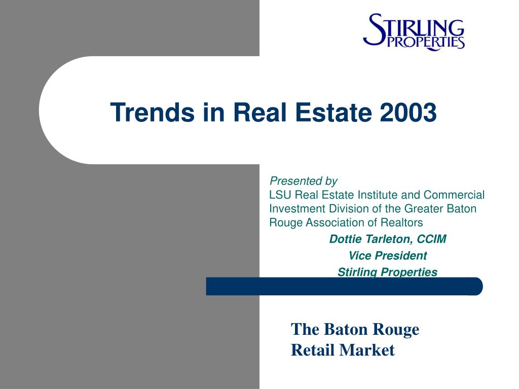 trends in real estate 2003 l.