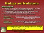 markups and markdowns27