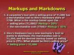 markups and markdowns28