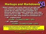 markups and markdowns29