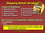 shaping retail strategy