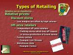types of retailing9