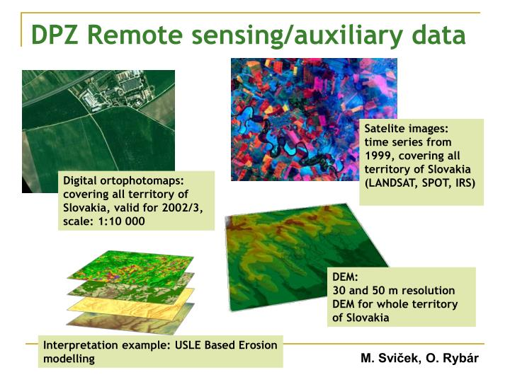 DPZ Remote sensing/auxiliary data