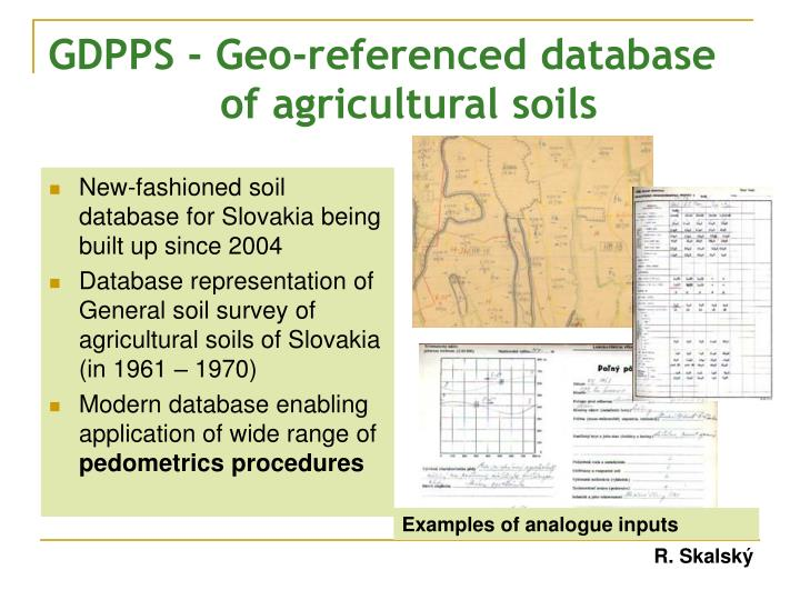 GDPPS - Geo-referenced database of agricultural soils