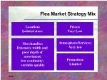 flea market strategy mix