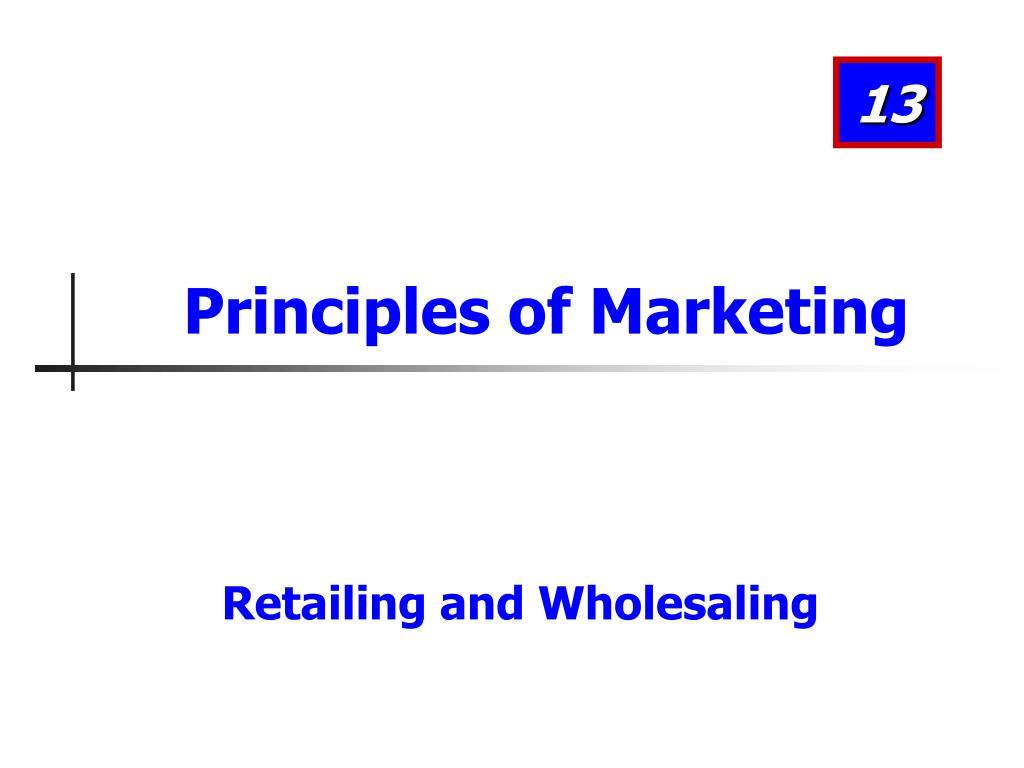 principles of marketing l.