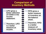 comparison of inventory methods