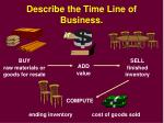 describe the time line of business