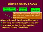 ending inventory cogs